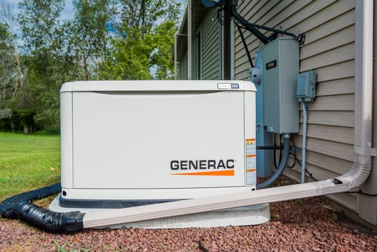 A Generac generator installation outside rural Wisconsin home installed by Generac Certified Electrician H&H Electric
